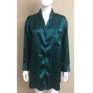 Victoria's Secret Sleep Shirt Emerald Green Small